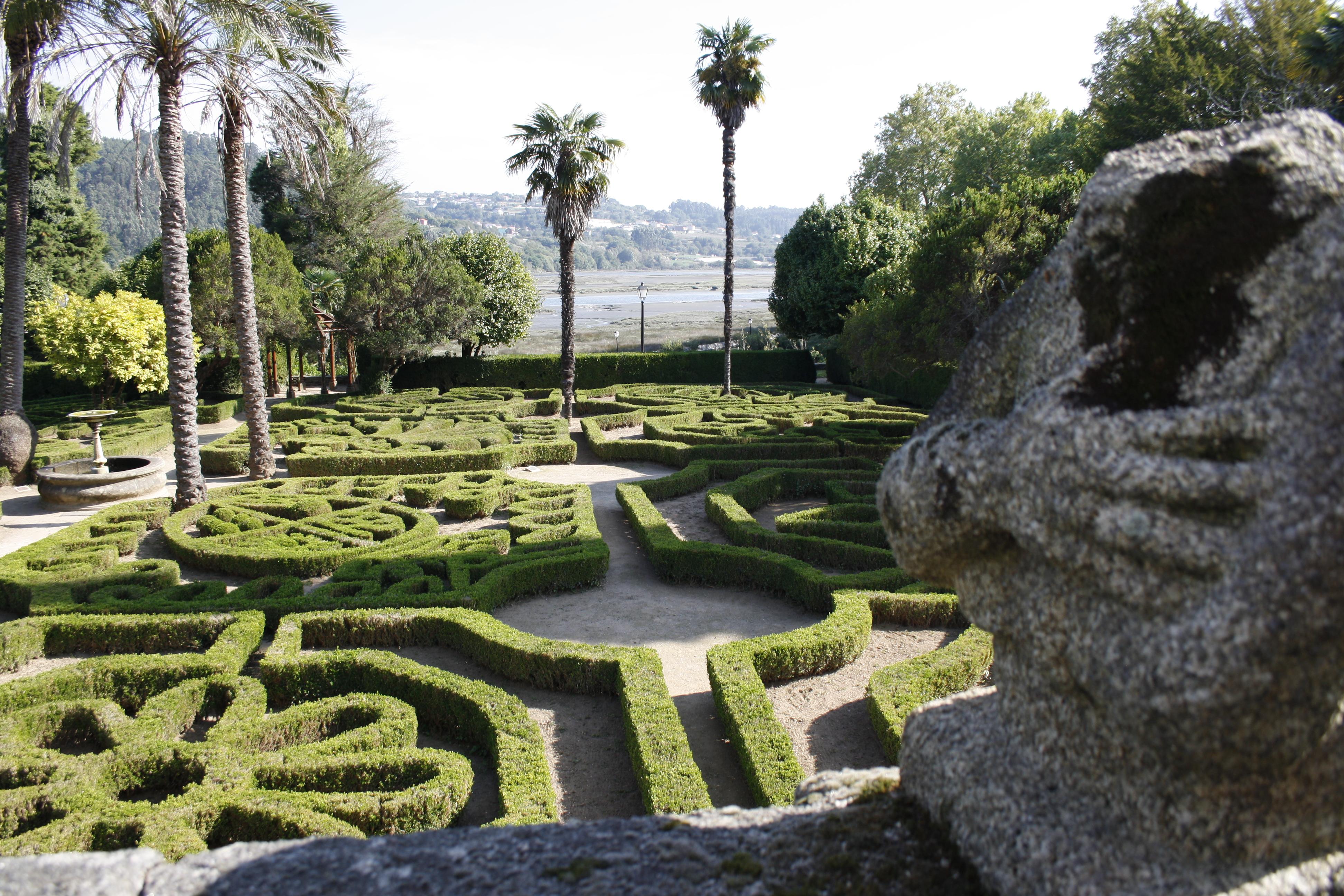 pazos y jardines en Galicia
